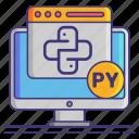 coding, computer, programing, python icon