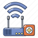 cartoon, computer, device, logo, object, repair, router