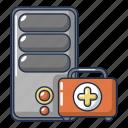 cartoon, device, logo, object, repair, system, unit