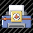 cartoon, computer, device, logo, object, printer, repair
