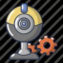 cartoon, computer, device, fan, logo, object, repair