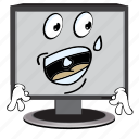 cartoon, computer, emoji, face, screen, smiley icon