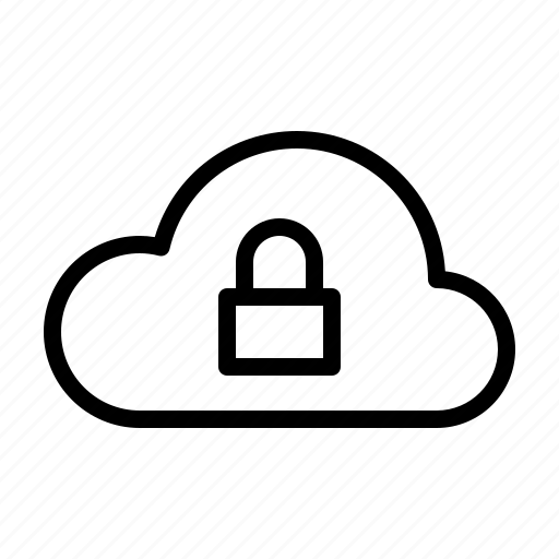 cloud, computer, hardware, it, lock, programming, service icon