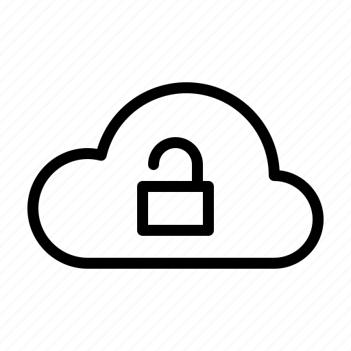 cloud, computer, hardware, it, programming, service, unlock icon