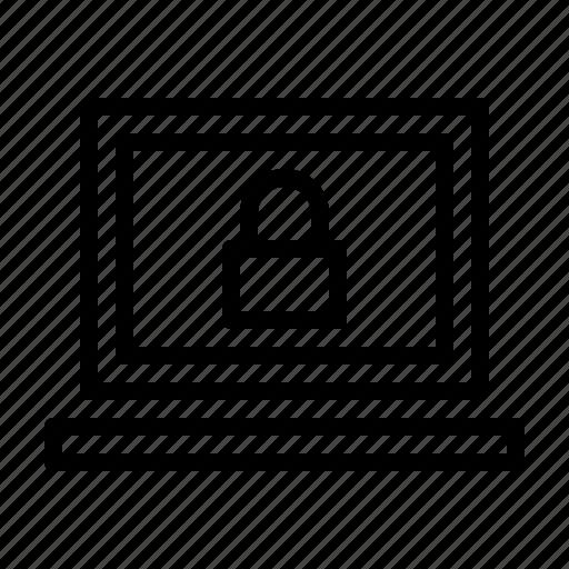 computer, hardware, it, lock, notebook, programming, service icon