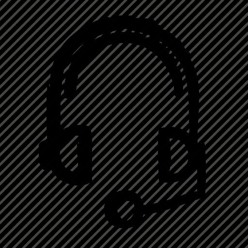 computer, device, digital, electronics, hardware, headset icon