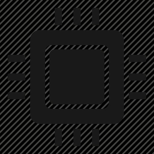 cpu, hardware, microprocessor, processor icon