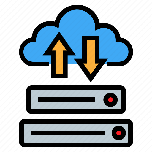 cloud, network, server, storage icon