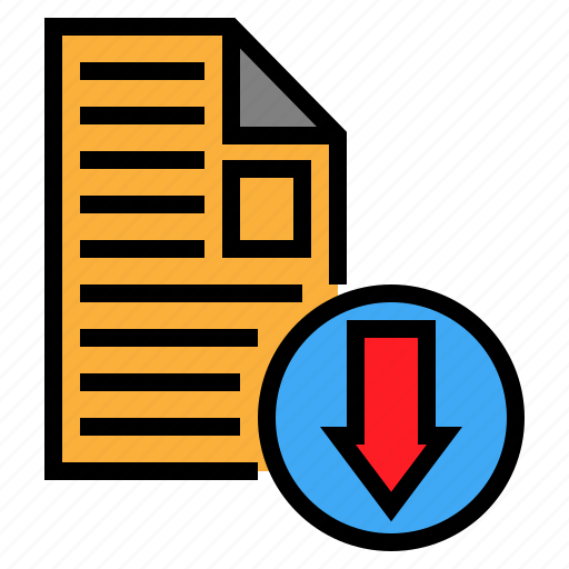 Arrow, document, download, file icon - Download on Iconfinder