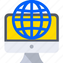 computer, global, internet, network, pc, web icon
