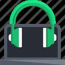 headset, headphone, laptop, pc, tech, technology