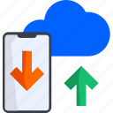 cloud, computing, mobile, sync, tech, technology, transfer icon