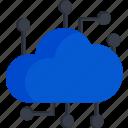 cloud, cpu, service, smart, tech, technology icon