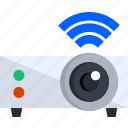 projection, projector, tech, technology, video, wifi icon