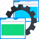 gear, page, preference, setting, web, website icon