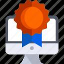 award, badge, computer, medal, tech, technology icon