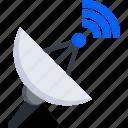 dish, sat, satellite, signal, tech, technology, wifi icon