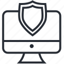 computer, pc, protect, security, shield, technology icon