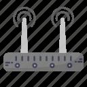 wifi, antena, router, wireless icon