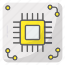 chip, circuit board, hardware, processor icon
