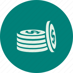 coin, coins, dolar, dollars, money icon