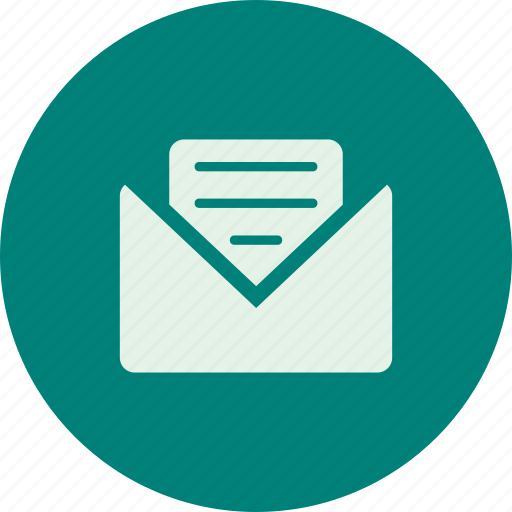 email, envelope, mail, open envelope, open message icon