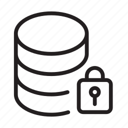 data, database, locked, server, sql icon