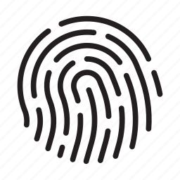 biometric, biometrics, fingerprint, identity, security, touch id, touchid icon