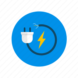 electricity, jack icon