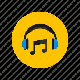 device, headphones, mp3, music icon