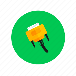 cable, connector, electric, electricity, jack, power icon