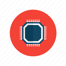 chip, computer, electronics, laptop, microchip, pc, technology icon