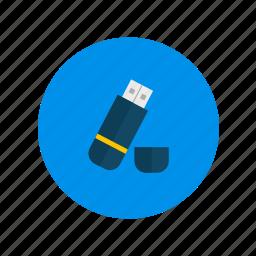data, drive, flash, stick, storage, usb icon