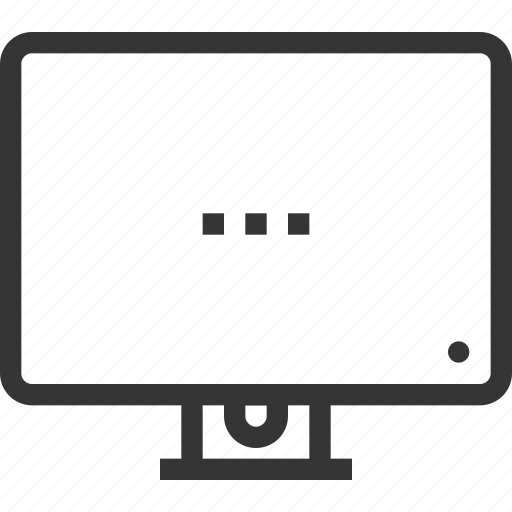 all in one, computer, desktop, electronics, monitor, screen, television icon
