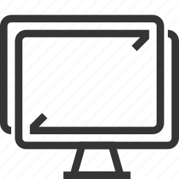 computer, computing, desktop, internet, share, synchronization, technology icon