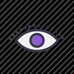 eye, goal, imagination, making, vision, visual, visualization icon