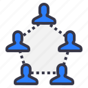chain2, connection, employee, follow, people icon