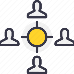 chain, connection, employee, follow, people, target icon