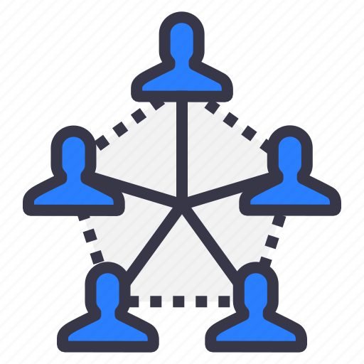 business, chain, connection, employee, follow, people, power icon