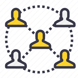 business, chain, connection, employee, follow, people, work icon