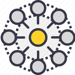 connection, development, graph, group, power icon