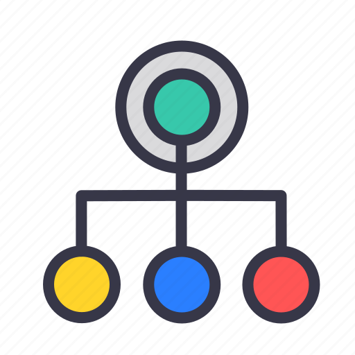 chart, connection, destination, graph, model, represent, source icon