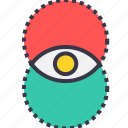 eye, idea, mix, power, vision, visualization icon