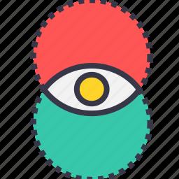 eye, idea, mix, power, vision, visualization icon