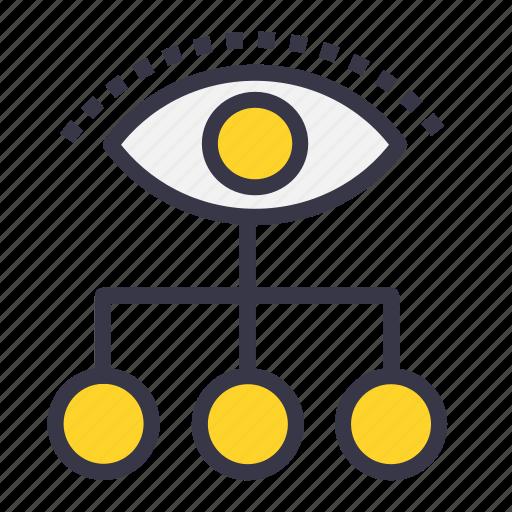 chain, connection, future, imagination, power, vision, visualization icon