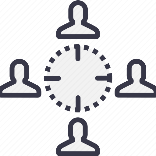 business, connected, employee, manage, model, people icon