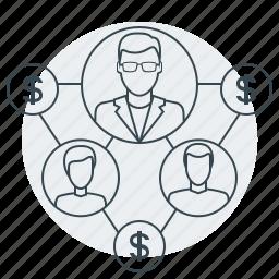 affiliate, business, internet, marketing, partners, seo icon