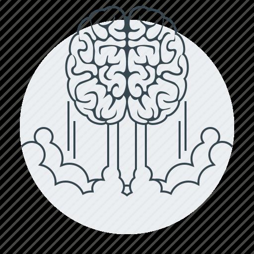 brain, brainstorm, brainstorming, business, marketing icon