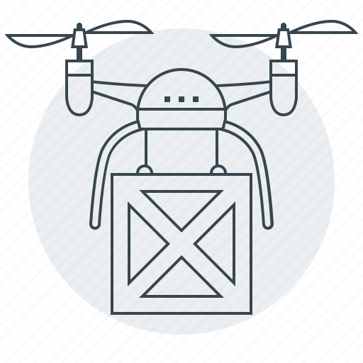 airdrone, delivery, device, drone, shipping, transportation icon