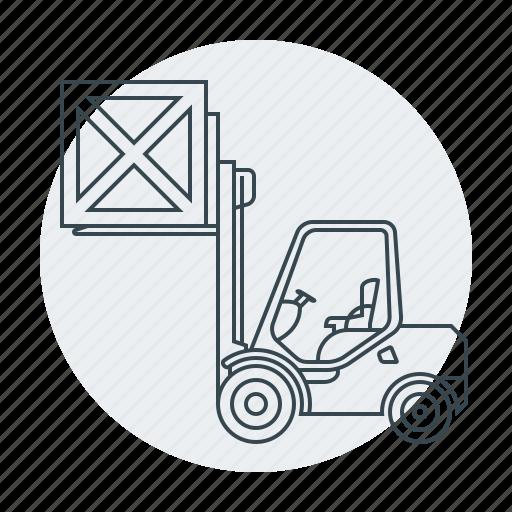 cargo, forklift, forklift-truck, loader, logistics, truck icon